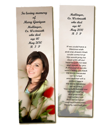 Memorial bookmarks living memorial cards for Funeral bookmarks template free